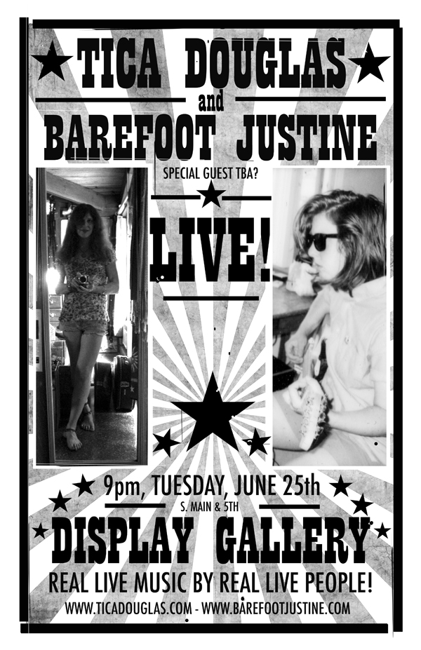 (Barefoot) Justine Mara Andersen: concert poster