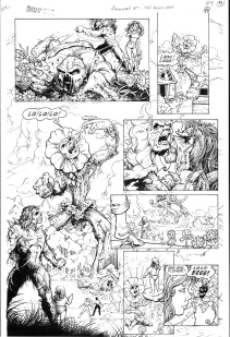 (Barefoot) Justine Mara Andersen - comic, Swamp Thing