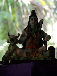 Lord Shiva on Barefoot Justine's altar