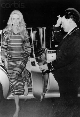 Brigitte Bardot Arriving Barefoot