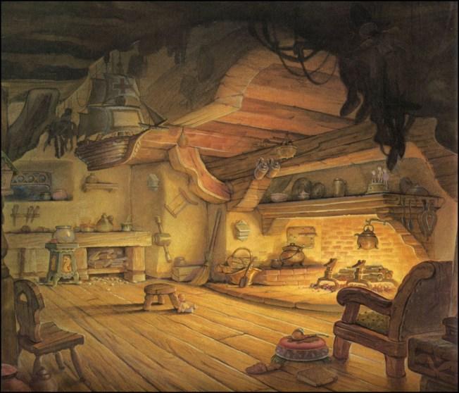 02ClaudeCoats_DisneyStudio_Pinocchio_GepettosRoom_100
