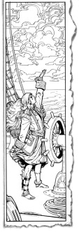 Barefoot Justine WOTC Illustration Pirate Woman