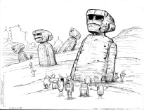 (Barefoot) Justine Mara Andersen: Easter Island Bots for UF.