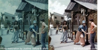 (Barefoot) Justine Mara Andersen: photo restoration2