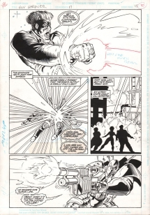 (Barefoot) Justine Mara Andersen Inks for Guy Gardner (penciller Mitch Byrd)