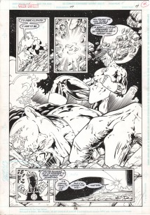 (Barefoot) Justine Mara Andersen Inks for Green Lantern (penciller unknown)