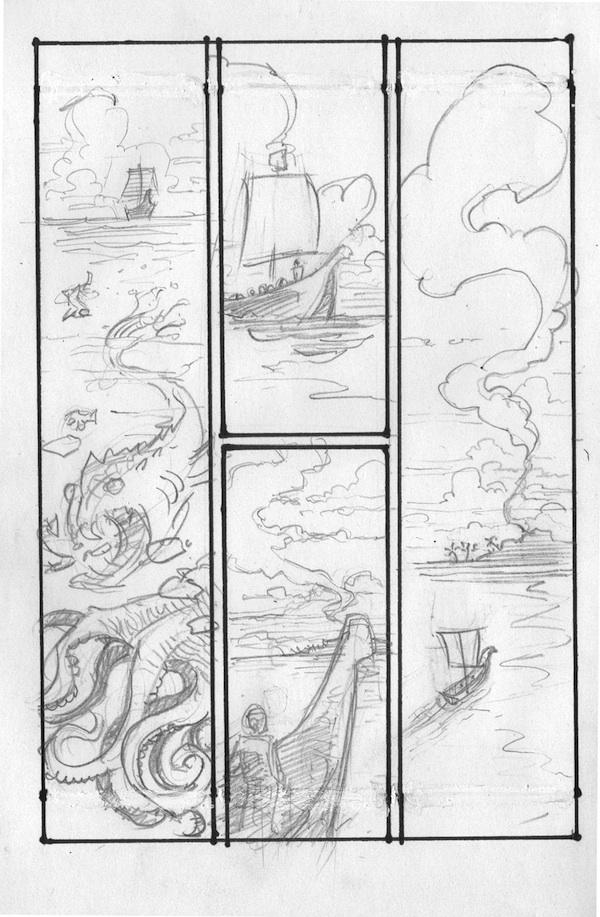 Odysseus layout, (Barefoot) Justine Mara Andersen