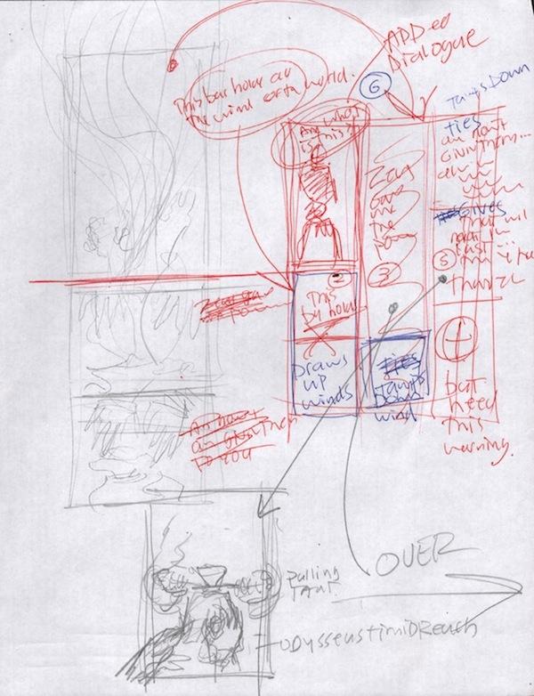 (Barefoot) Justine Mara Andersen - Odysseus 6: sketch 3