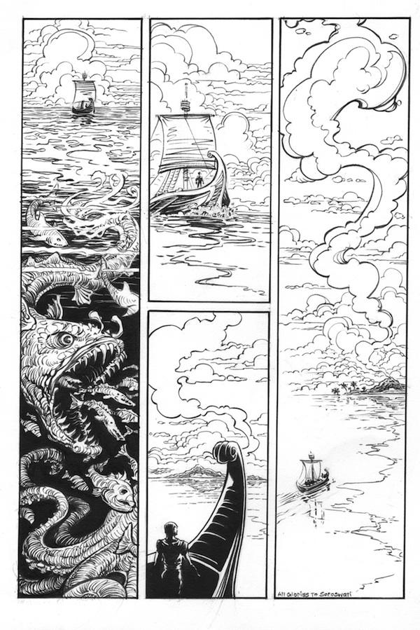 (Barefoot) Justine Mara Andersen - Odysseus 1: finished inks (single ship)