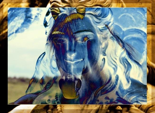 Shiva White Horse