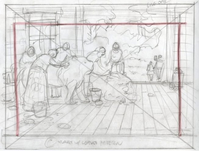 What The Lions Saw - sketch work-up