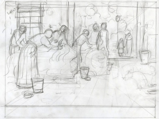 What The Lions Saw - final sketch