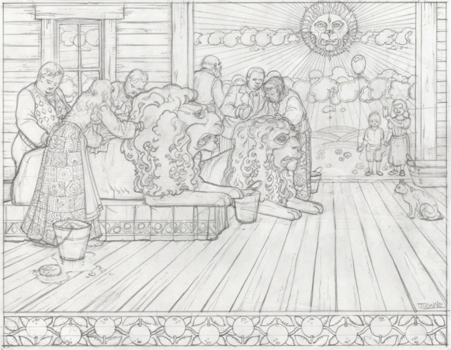What The Lions Saw - final pencils by Justine Mara Andersen
