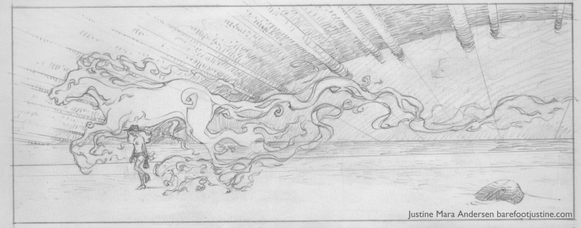 Unfinished Mara Panel (pencils only)